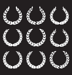 white laurel wreaths 1 vector image vector image