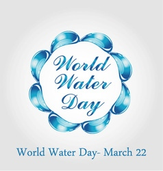 World water day march 22 vector