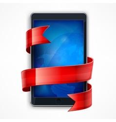 Mobile phone Ribbon vector image