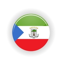 Equatorial guinea icon circle vector