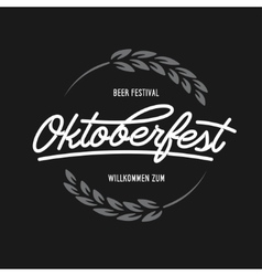 Oktoberfest beer festival typography emblem vector