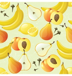 Yellow fruits seamless vector