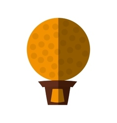 golf trophy championship isolated icon vector image