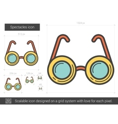 Spectacles line icon vector