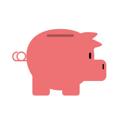 Piggy bank icon image vector