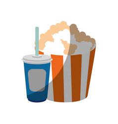 pop corn bucket icon vector image