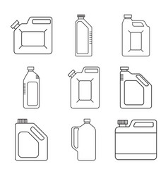 Blank plastic canisters vector