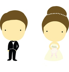 Bride and groom cartoons vector