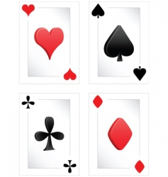 Poker clubs diamonds hearts spades vector