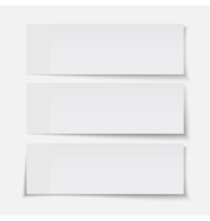 set realistic paper sheet vector image
