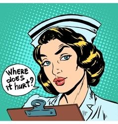 Where does it hurt nurse question vector