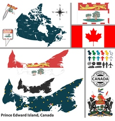 Map of prince edward island vector