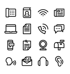 Crisp communication icons vector