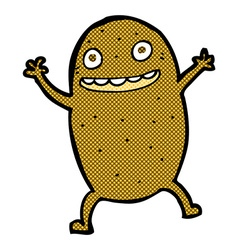 Comic cartoon happy potato vector