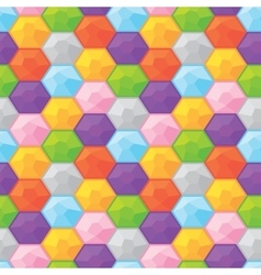 Colorful diamonds seamless graphic pattern vector
