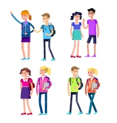 Detailed character flat design children vector