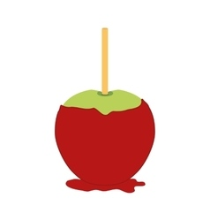 Sugar food design apple icon sweet vector image