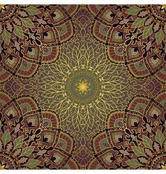 Gold pattern of mandalas vector image