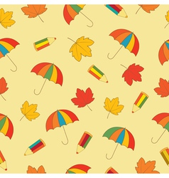 Autumn school seamless pattern vector