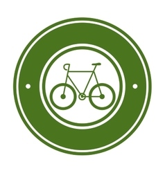 Bicycle ecology vehicle icon vector