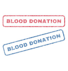 blood donation textile stamps vector image