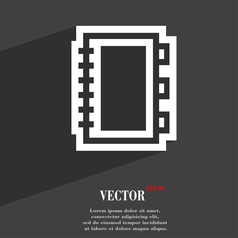 Book icon symbol Flat modern web design with long vector image vector image