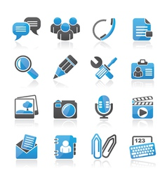 Chat Application and communication Icons vector image