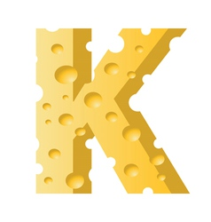 cheese letter K vector image