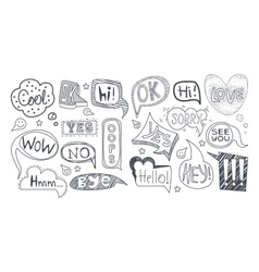 Comic style speech bubbles with different vector