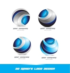Corporate business 3d sphere logo icon set vector image