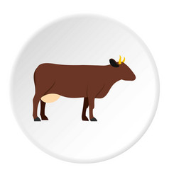 Cow icon circle vector