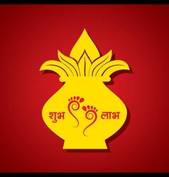 Creative Diwali greeting design stock vector image vector image
