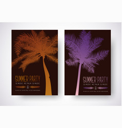 design a flyer for a summer party poster template vector image