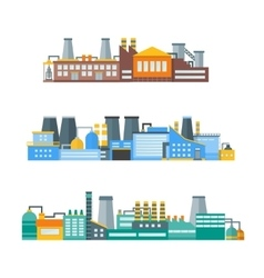 Factory flat set vector