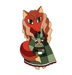 Fox hipster girl fashion vector