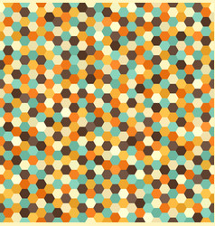 hexagon pattern seamless retro background vector image vector image