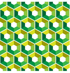 Hexagon with color triangles abstract seamless vector