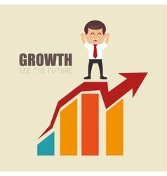 Leadership businessman growth arrow financial vector