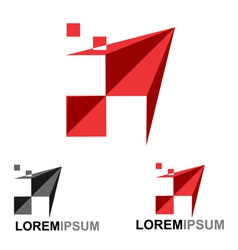 Paper plane logo vector image vector image