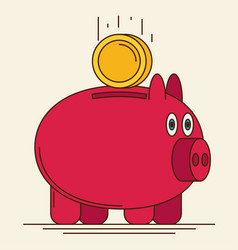 pig bank icon vector image