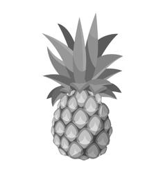 Pineapple icon gray monochrome style vector