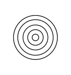 Round target dartboard vector image