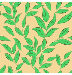 seamless wallpaper with leaves vector image