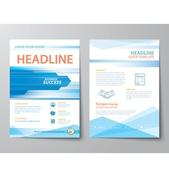 Set of business magazine cover vector
