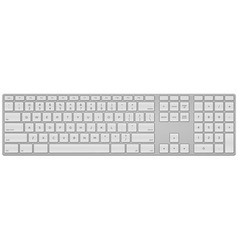 Standard US Keyboard vector image