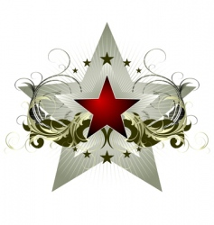 star with ornate elements vector image vector image