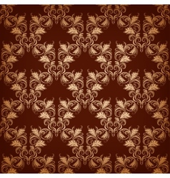 vintage damask seamless vector image vector image