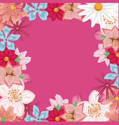 white background with decorative border with vector image vector image