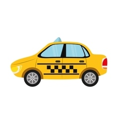 Taxi car auto vehicle transportation icon vector