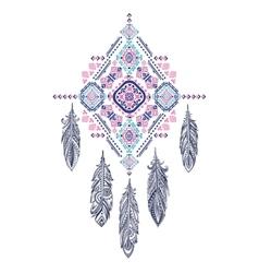 Aztec Mexican tribal ornament dream catcher vector image